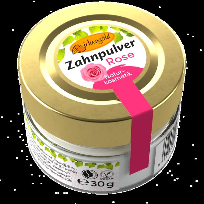 Birkengold Zahnpulver Rose