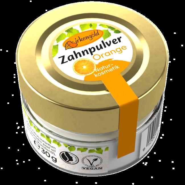 Birkengold Zahnpulver Orange