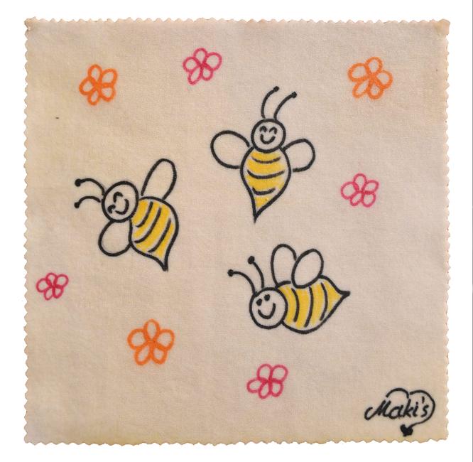 Bienenwachstuch süße Bienchen