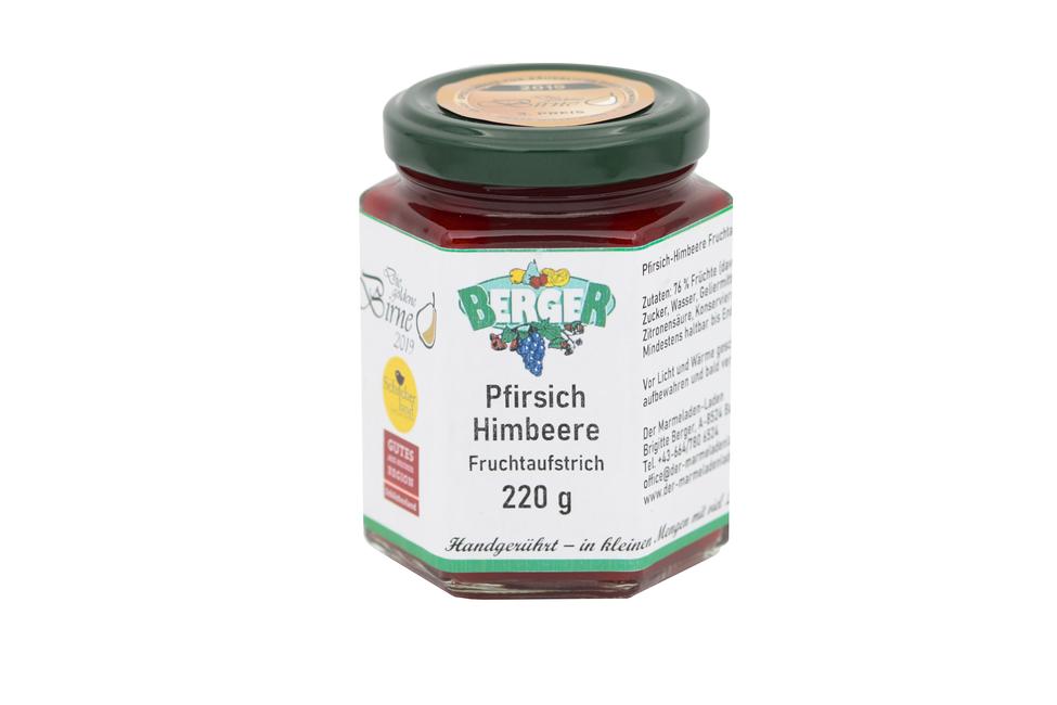 Pfirsich - Himbeer Marmelade