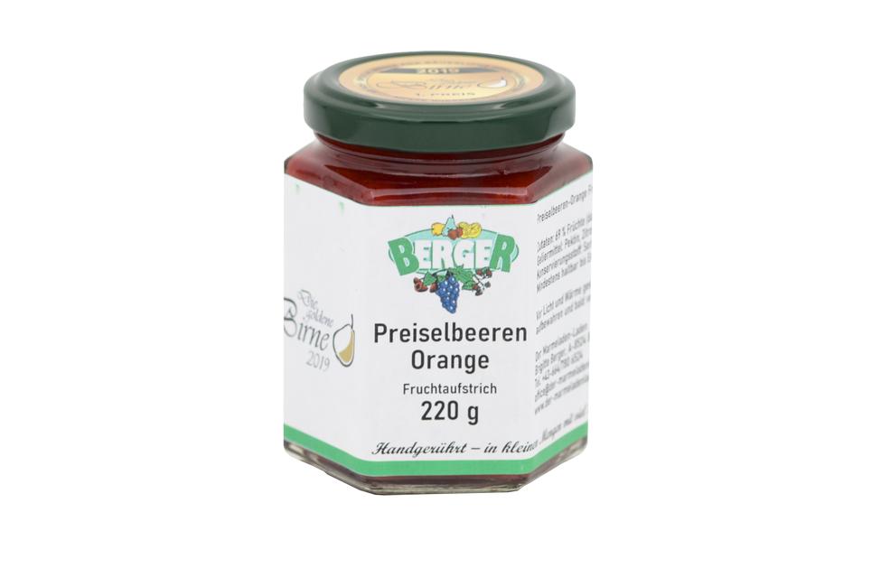 Preiselbeer - Orangen Marmelade