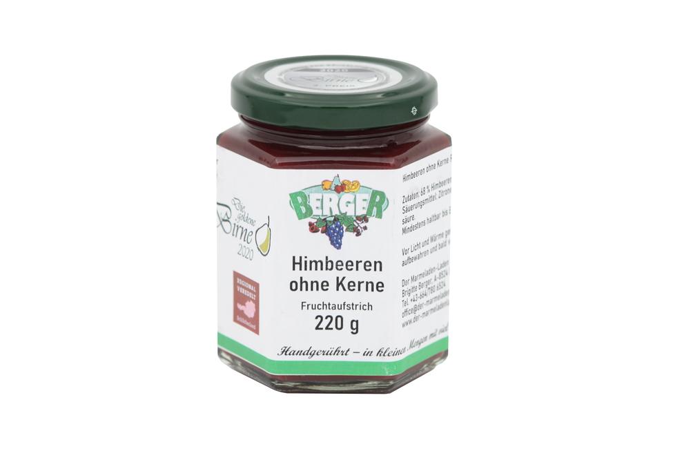 Himbeeren ohne Kerne Marmelade