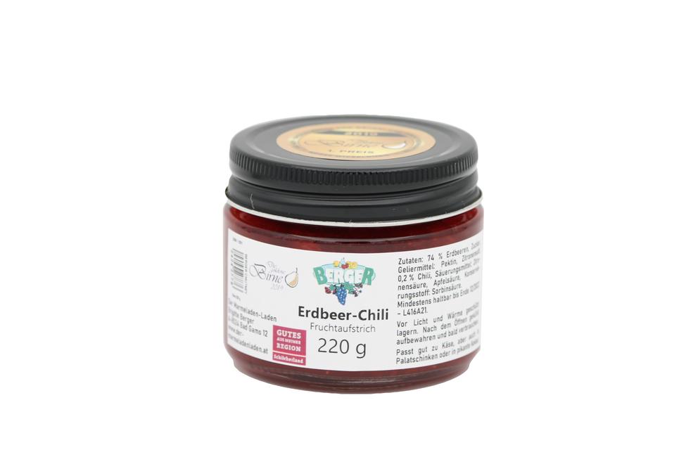 Erdbeer - Chilli Fruchtaufstrich